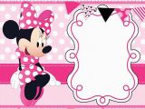 Free Printable Minnie Mouse 1st Birthday Invitations the Largest Collection Of Free Minnie Mouse Invitation