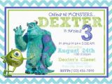Free Printable Monsters Inc Birthday Invitations Etsy Your Place to Buy and Sell All Things Handmade