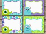 Free Printable Monsters Inc Birthday Invitations Items Similar to Diy Instant Download Monster Inc Inspired