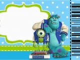 Free Printable Monsters Inc Birthday Invitations Monster University Free Printable Party Invitations Oh