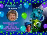 Free Printable Monsters Inc Birthday Invitations Monsters Inc 2 University Birthday Invitation Kustom