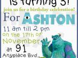 Free Printable Monsters Inc Birthday Invitations Monsters Inc Birthday Custom Digital Invitation My
