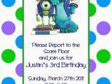 Free Printable Monsters Inc Birthday Invitations Monsters Inc Birthday Invitations Template Resume Builder