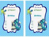 Free Printable Monsters Inc Birthday Invitations Monsters University Birthday Invitations Birthday Printable