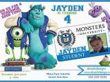 Free Printable Monsters Inc Birthday Invitations Monsters University Birthday Invitations Monster Inc