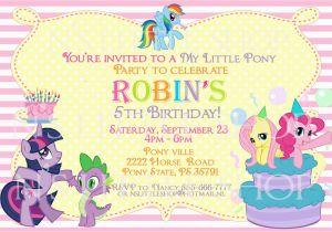 Free Printable My Little Pony Birthday Invitations Party Invitation
