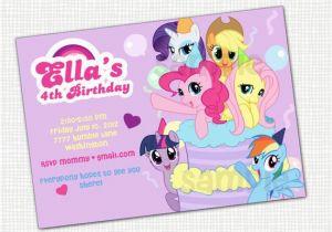 Free Printable My Little Pony Birthday Invitations Items Similar To Invitation
