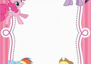 Free Printable My Little Pony Birthday Invitations Invitation Templates