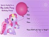 Free Printable My Little Pony Birthday Invitations My Little Pony Invitation Free Printable