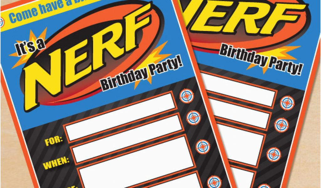 Download By SizeHandphone Tablet Desktop Original Size Back To Free Printable Nerf Birthday Party Invitations