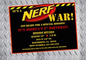 Free Printable Nerf Birthday Party Invitations Bday