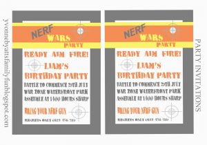 Free Printable Nerf Birthday Party Invitations Template Budget