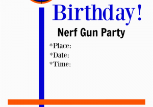 image about Nerf Gun Party Invitations Printable named Cost-free Printable Nerf Birthday Bash Invites Lifetime Outside the house