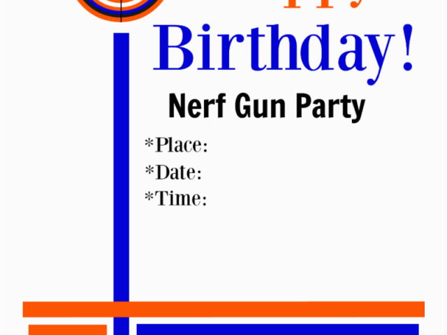 picture about Free Printable Nerf Party Invitations called Cost-free Printable Nerf Birthday Bash Invites Instantly Upon