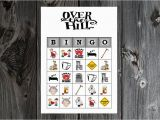 Free Printable Over the Hill Birthday Cards Over the Hill 40th 50th 60th Birthday Party Game Printable