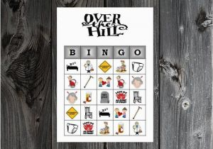Free Printable Over the Hill Birthday Cards Over the Hill Bingo 30 Printable Birthday Party by Bingoshop4u