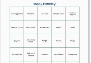 Free Printable Over the Hill Birthday Cards Printable Over the Hill Bingo Funsational Com 40th