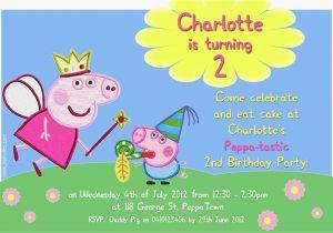 Free Printable Peppa Pig Birthday Invitations