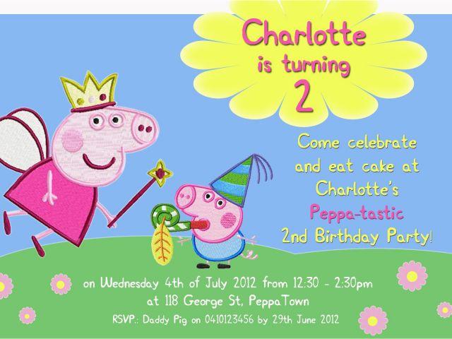 Download By SizeHandphone Tablet Desktop Original Size Back To Free Printable Peppa Pig Birthday Invitations