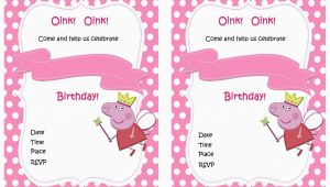 Free Printable Peppa Pig Birthday Invitations Peppa Pig Birthday Invitations Birthday Printable