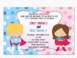 Free Printable Personalised Birthday Cards Superhero Birthday Invitation Card Printable Personalized