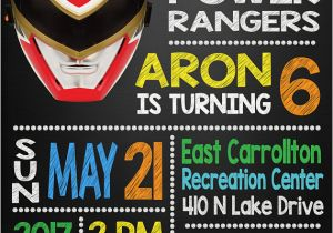 Free Printable Power Ranger Birthday Invitations 13 Rangers Party Ideas Pretty My