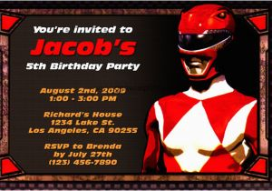 Free Printable Power Ranger Birthday Invitations Rangers Party