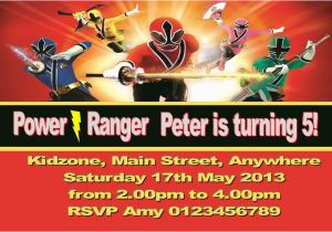 Free Printable Power Ranger Birthday Invitations Personalised Rangers
