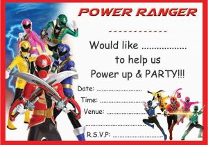 Free Printable Power Ranger Birthday Invitations Rangers Party Invites With Or