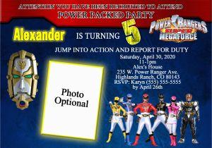 Free Printable Power Ranger Birthday Invitations Rangers Brithday Invitation Kustom Kreations