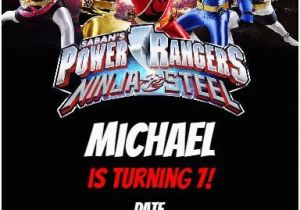 Free Printable Power Ranger Birthday Invitations Rangers Ninja Steel Party Invitation Personalized