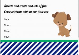 Free Printable Puppy Birthday Invitations Dog Birthday Invitations
