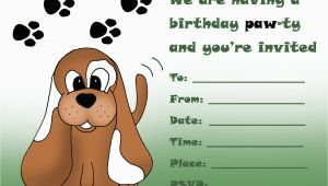 Free Printable Puppy Birthday Invitations Kids Birthday Party Invitations Free Printable 1st