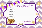 Free Printable Puppy Birthday Invitations Puppy Party Ideas About A Mom