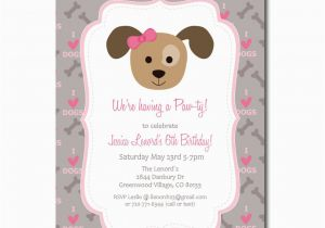 Free Printable Puppy Birthday Invitations Party Invitation With Editable Text Dog