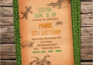 Free Printable Reptile Birthday Invitations Custom Printable Reptile Birthday Party Invitation Snake