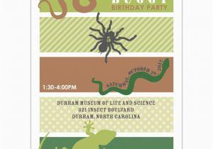 Free Printable Reptile Birthday Invitations Insects and Reptiles Birthday Party Printable Invitation