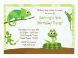 Free Printable Reptile Birthday Invitations Kids Reptile Birthday Party Invitation Zazzle Com