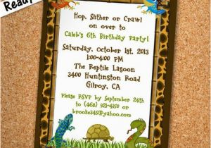 Free Printable Reptile Birthday Invitations Pinterest the World S Catalog Of Ideas
