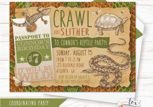 Free Printable Reptile Birthday Invitations Reptile Birthday Invitation Reptile Party Invitation Boys