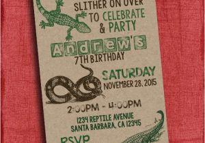 Free Printable Reptile Birthday Invitations Reptile Birthday Party Invitation Boy Birthday I Design