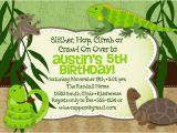 Free Printable Reptile Birthday Invitations Reptile themed Birthday Party Invitation Printable