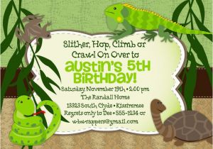 Free Printable Reptile Birthday Invitations Themed Party Invitation