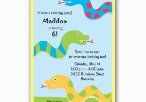 Free Printable Reptile Birthday Invitations Snake Party Clearance Paperstyle