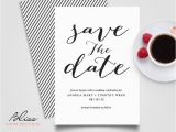 Free Printable Save the Date Birthday Invitations Black and White Custom Printable Save the Date Save the