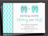 Free Printable Save the Date Birthday Invitations Flip Flop Invitation Printable or Printed with Free