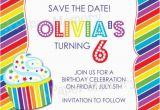 Free Printable Save the Date Birthday Invitations Rainbow Party Invitation Birthday Save the Date Diy Printable
