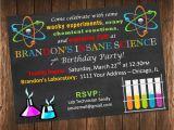 Free Printable Science Birthday Party Invitations Insane Science Birthday Party Invitation Science Laboratory