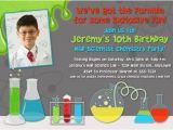 Free Printable Science Birthday Party Invitations Mad Science Birthday Party Invitations Drevio