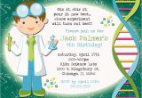 Free Printable Science Birthday Party Invitations Mad Scientist Party Invitation
